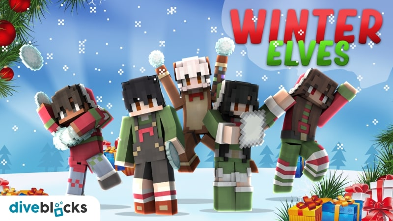 Winter Elves on the Minecraft Marketplace by Diveblocks