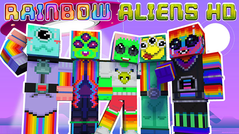 Rainbow Aliens HD on the Minecraft Marketplace by Appacado