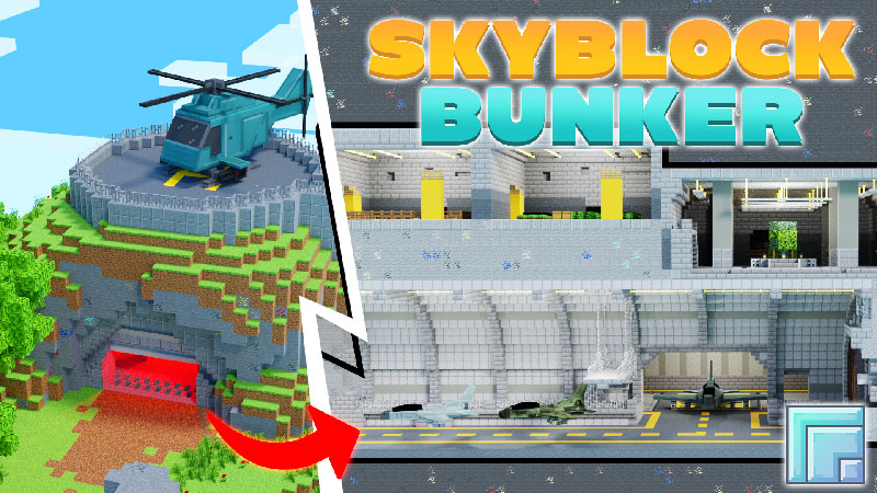 Skyblock Bunker on the Minecraft Marketplace by inPixel