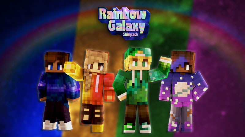 Rainbow Galaxy Skin Pack on the Minecraft Marketplace by Impulse