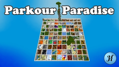 Parkour Paradise on the Minecraft Marketplace by Hielke Maps