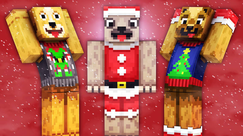 Festive Doggos on the Minecraft Marketplace by 57Digital