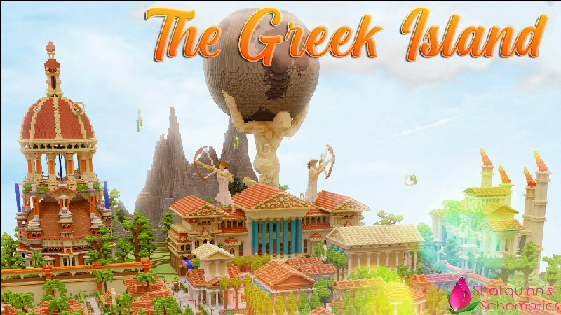 The Greek Island on the Minecraft Marketplace by Shaliquinn's Schematics