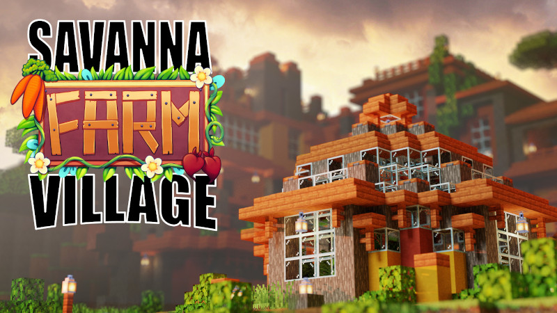 Savanna Farm Village on the Minecraft Marketplace by BTWN Creations