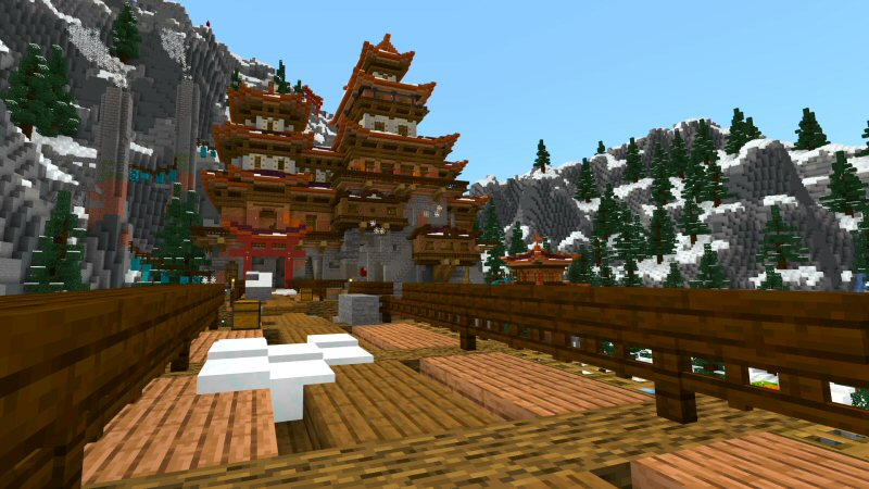 Snowy Mountain Temple by Shaliquinn's Schematics