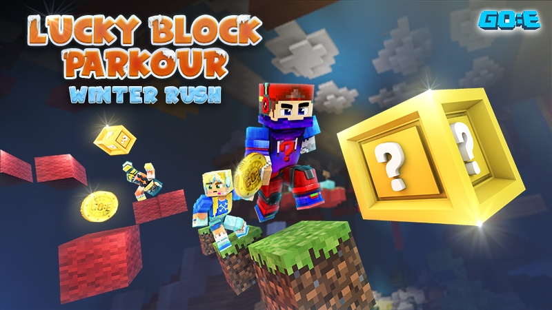 Lucky Block ParkourWinterRush on the Minecraft Marketplace by GoE-Craft
