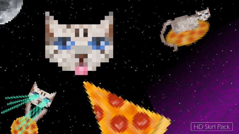 Pizza Cats in Space on the Minecraft Marketplace by Arrow Art Games