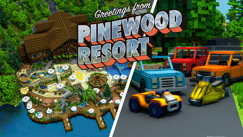 Pinewood Resort on the Minecraft Marketplace by Blockception