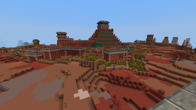 Mesa Temple on the Minecraft Marketplace by King Cube