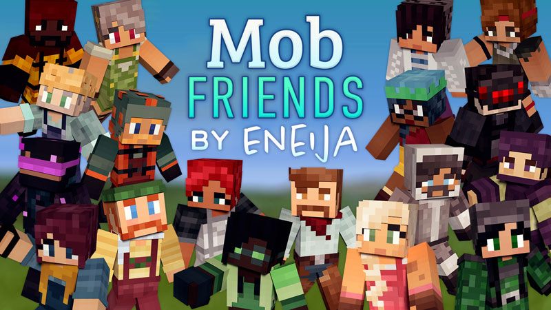 Mob Friends Skin Pack on the Minecraft Marketplace by Eneija
