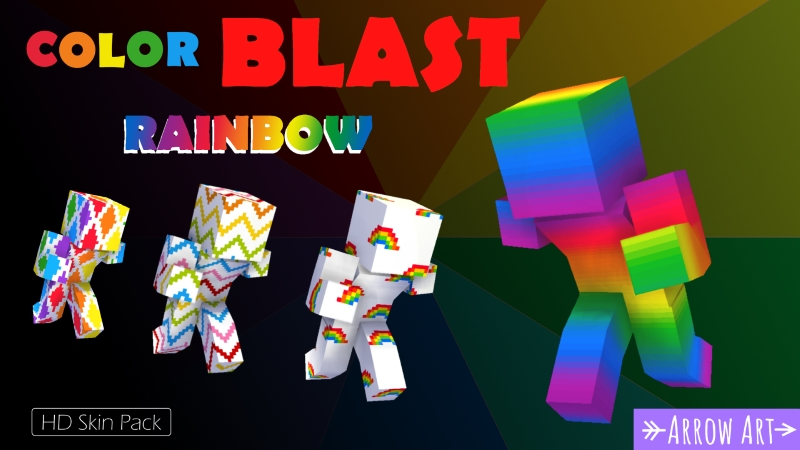 Color Blast Rainbow on the Minecraft Marketplace by Arrow Art Games