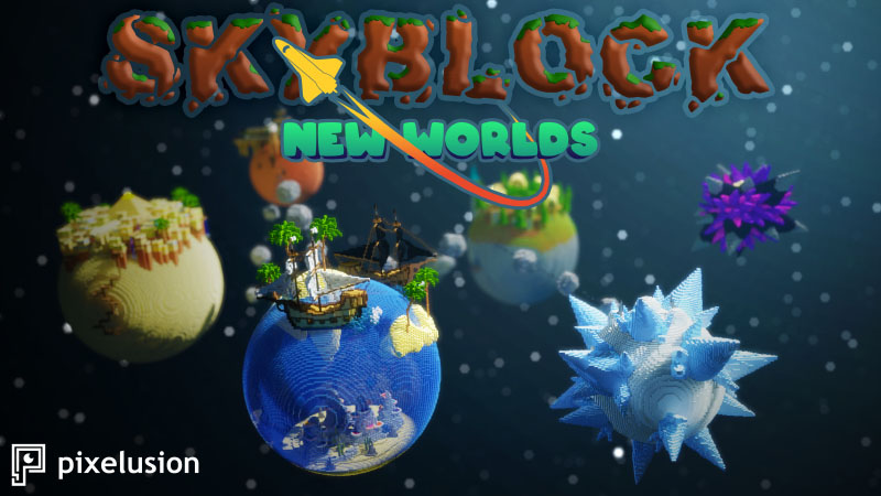 New Worlds Skyblock on the Minecraft Marketplace by Pixelusion