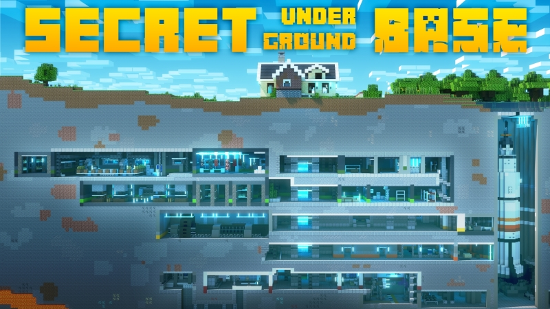 Secret Underground Base on the Minecraft Marketplace by Cubed Creations