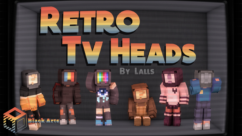 Retro TV Heads on the Minecraft Marketplace by Black Arts Studio