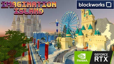 Imagination Island RTX on the Minecraft Marketplace by Nvidia
