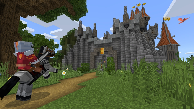Phoenix Castle on the Minecraft Marketplace by King Cube