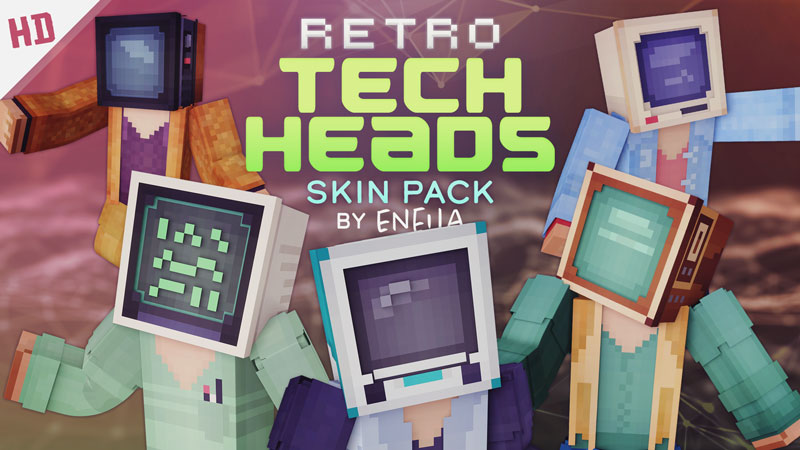 Retro Tech Heads HD on the Minecraft Marketplace by Eneija