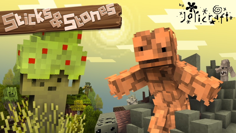 Jolicrafts Sticks and Stones on the Minecraft Marketplace by Jolicraft