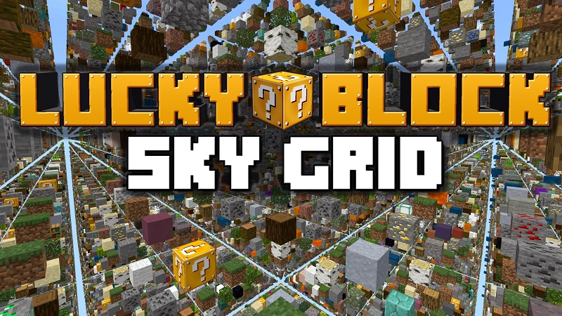Lucky Block Sky Grid on the Minecraft Marketplace by Lifeboat