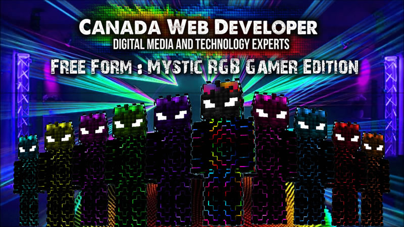 Free Form Mystic RGB Gamers on the Minecraft Marketplace by CanadaWebDeveloper