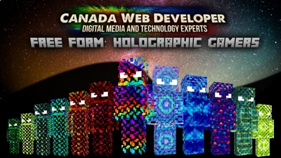 Free Form Holographic Gamers on the Minecraft Marketplace by CanadaWebDeveloper