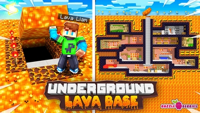 Underground Lava Base on the Minecraft Marketplace by Razzleberries