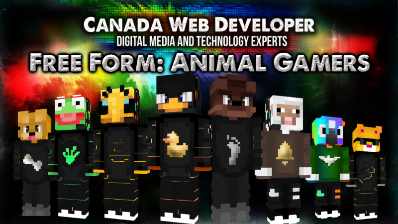 Free Form Animal Gamers on the Minecraft Marketplace by CanadaWebDeveloper