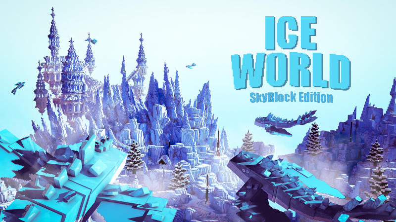 Ice World In Minecraft Marketplace Minecraft Blue ice is a solid block similar to packed ice and ice, but much more slippery. ice world in minecraft marketplace