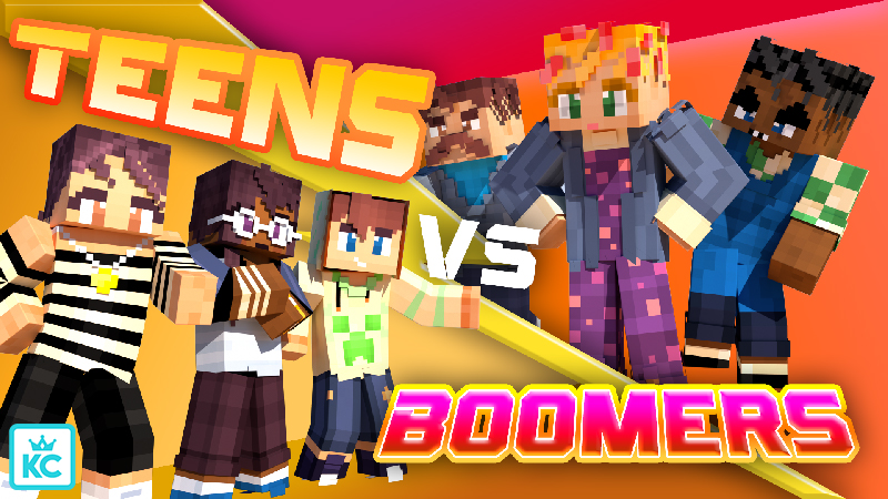 Teens VS Boomers on the Minecraft Marketplace by King Cube