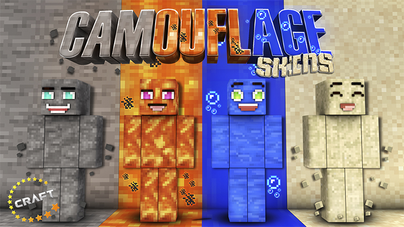 Camouflage Skins on the Minecraft Marketplace by The Craft Stars