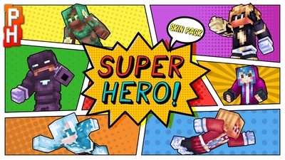 Super Hero Skin Pack on the Minecraft Marketplace by PixelHeads