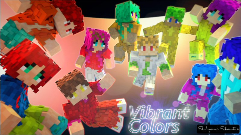 Minecraft Marketplace Vibrant Colors Skin Pack