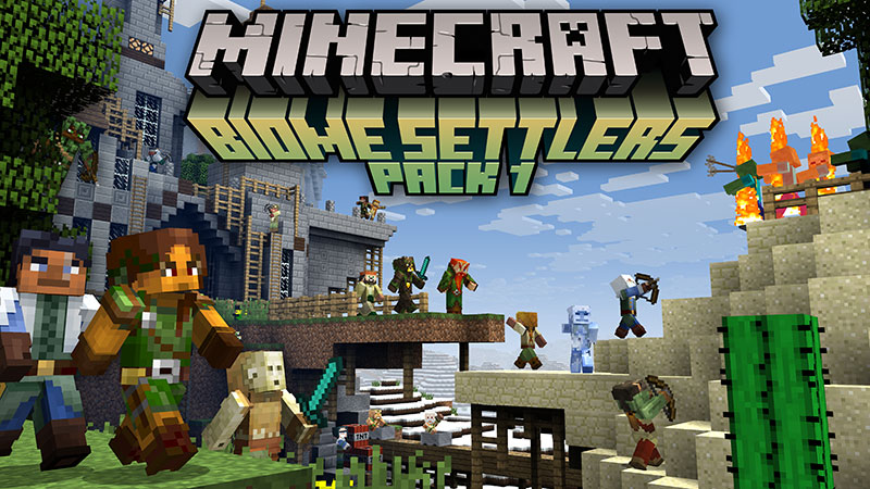 Biome Settlers Skin Pack 1 on the Minecraft Marketplace by Minecraft