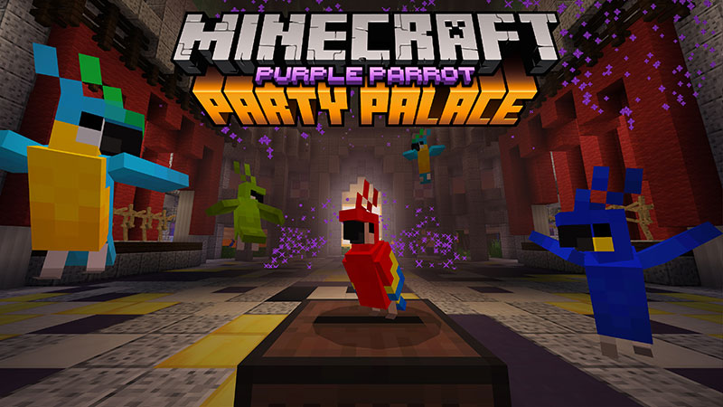 Purple Parrot Party Palace on the Minecraft Marketplace by Minecraft