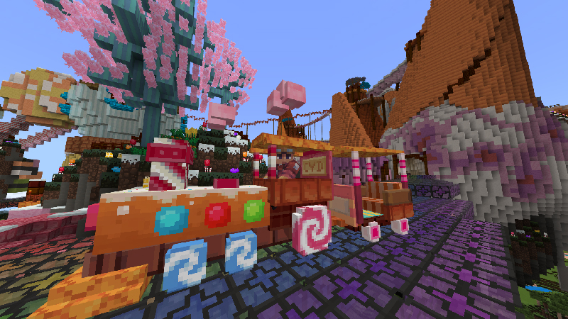 The Candyland Express on the Minecraft Marketplace by Cyclone Designs