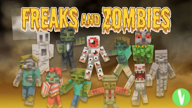 Freaks and Zombies Skin Pack on the Minecraft Marketplace by Visula