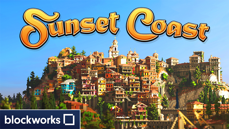 Sunset Coast on the Minecraft Marketplace by Blockworks