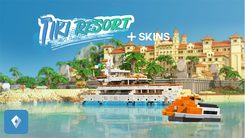 Tiki Resort on the Minecraft Marketplace by Sapphire Studios