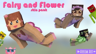 Fairy and Flower Skin Pack on the Minecraft Marketplace by Arrow Art Games