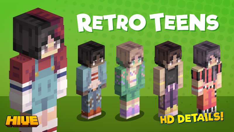 Retro Teens on the Minecraft Marketplace by The Hive
